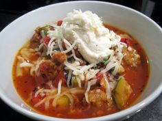 Sophie in the Kitchen: Lasagna Soup - perfect for fall.