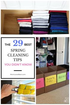 Are you ready to tackle your spring cleaning? Here are 29 great tips to help get your home clean and organized.