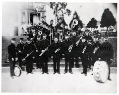 Photograph from between 1900 and 1909 of the 22 musicians of the San Luis Obispo Municipal Band.  (History Center of San Luis Obispo County)