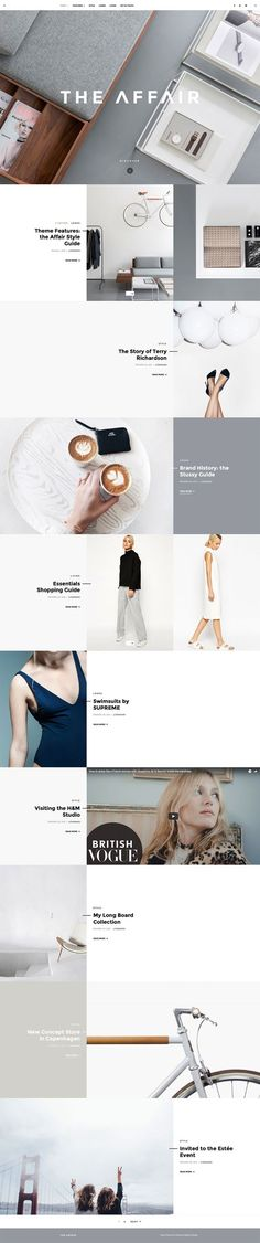 elegant clean layout webpage website inspiration concept white