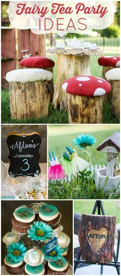 Ideas garden party children fairy houses for 2019 Fairy Tea Parties, Alice Tea Party, Fairy Birthday Party, Birthday Parties, Birthday Bash, Birthday Ideas, Unicorn Party, Fairy Houses, Party Time