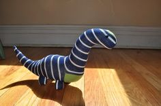 Sock Dinosaur by SewMuchRock on Etsy