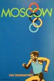 Olympic Games Poster 1980 Moscow