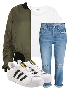 """""""yeah"""" by kingrabia on Polyvore featuring Monki, Topshop and adidas Originals"""