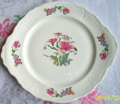 Royal Worcester~Palissy~England~Peony Rose~Bone China~Tea Set~Cake Plate~1st~Ex!