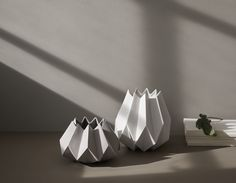'Folded vase' is designed with the flower bouquet in mind and has been inspired by the Japanese paper-folding art, Origami.