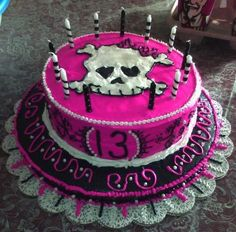 Aubrey's 13th birthday cake  {Cakes by Milisa}