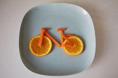 Appelsin-sykkel