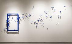 Artist Paul Villinski Brings Flight to the Gallery with Swarms of Repurposed Aluminum Can Butterflies Wall Sculptures, Sculpture Art, Colossal Art, Wall Accessories, Wall Installation, Wow Art, Metal Artwork, Landscape Walls, Wall Design