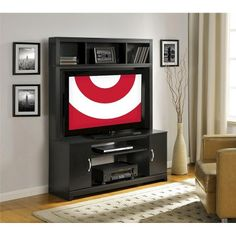 "Home Entertainment Center Black 48"" - Ameriwood : Target"