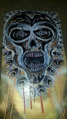 #TheBeardedWelder #painting #scratching #art #MetalArt #slipknot #korn #eminem #rihanna #chive #tattoo #monster #outtaweldinggas #skull #deez