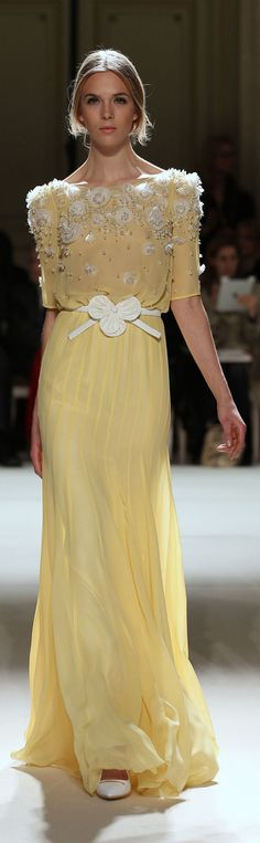 George Hobeika...yellow wedding dress anyone?