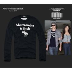 USD$26  zoom in Replica Abercrombie & Fitch A&F AF Fashion T Shirt Men Men Clothes Long Sleeve O-Neck Hoodie Badge Tshirt Tops Tees