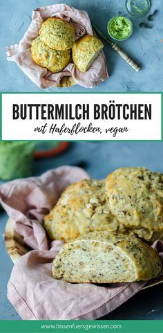 Buttermilch-Brötchen Rezept zum selber backen. Neu interpretiert, weil vegan :) Ein veganes Rezept für fluffige Brötchen, oerfekt für's Frühstück oder Abendbrot. Mit Hefe und Sojamilch, ohne Ei, Butter und Milch.