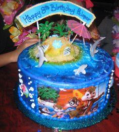 Birthday Cake  Theme: Alvin & Chipmunks Chipwreaked Movie Party