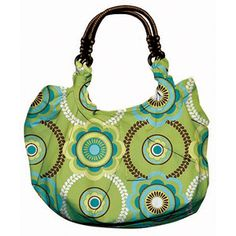 Creative Cuts Fabric Hobo Tote Kit, Geometric Green