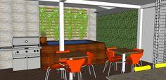 Edícula SK - Projeto de ampliação de uma residência com construção de edícula, a fim de criar área de lazer com churrasqueira e pequeno apartamento no piso superior, sendo todos os ambientes integrados a áreas verdes. Manaus, AM - Baré Arquitetura