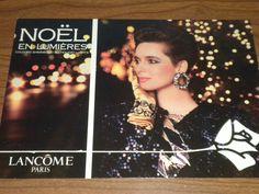 "VINTAGE 1987 ADVERTISING POSTCARD ""NOEL EN LUMIERES"" LANCOME PARIS (eBay)"