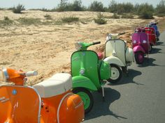 #Vespa to match beach chairs for the rest #ridecolorfully on an excrusion...let's go!!
