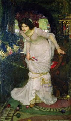 'The Lady of Shalott Looking at Lancelot' by John William Waterhouse