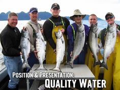 Did you know there are genuine sweet spots in the ocean that hold salmon? Read why quality of the water over quantity of the water will produce more fish for you! #fishing #alaska #salmon