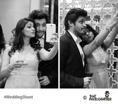 'Two' much selfie love.  #WeddingShoot #ThatPhotographer