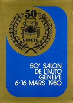 Geneva Car-Show 1980 Original Vintage, Car Show, Vintage Posters, Marie, The Originals, Switzerland, Exhibitions, Poster Vintage