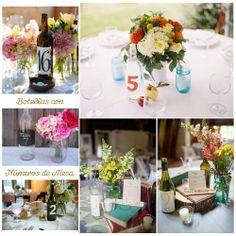 Blog de Organización de Bodas - Wedding Planner Madrid - Botellas de Vino Decoración Bodas
