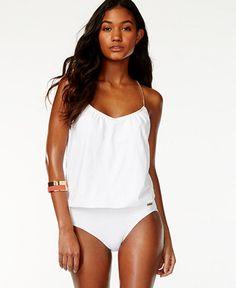 d41a86c2915db Vince Camuto Chain-Strap Blouson One-Piece Swimsuit - Swimwear - Women -  Macy s
