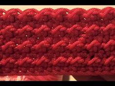 Punto Econocciolina alternato - Crochet - YouTube