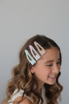 Designer Girls Hair Clips - Nail Effect Flower Girls, Girls Hair Accessories, Fashion Accessories, Hair Garland, Nail Effects, Lady Jane, Luxury Girl, Bridal Parties, Hair Accessory