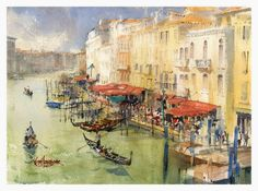 The art of watercolour by British watercolour artist and illustrator Keith Hornblower