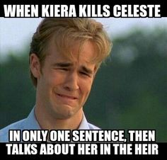 ONE SENTENCE, KIERA. SHE DESERVED MORE. Luckily, she got it in The Heir WITHOUT AMERICA EVEN MENTIONING HER NAME. We knew who it was.