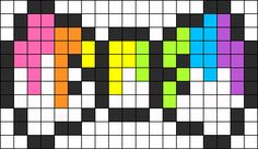 Bleeding Rainbow Bow Perler Perler Bead Pattern / Bead Sprite