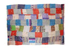 Silk Ralli Quilt, Geometric Squares
