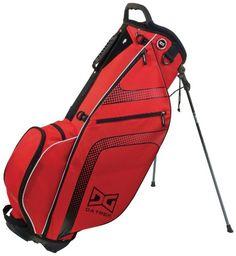 Datrek GO-Lite 14 Golf Stand Bag, Red/Black/Silver