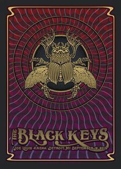Dave Hunter The Black Keys Detroit Poster Release Details
