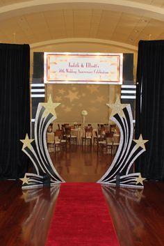 What could red carpet, oscars, paparazzi, a light up marquis and bright star lights mean? None other than a Hollywood themed party and a rea...