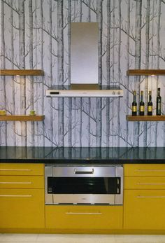 wallpaper in the kitchen, Cole & Son Woods