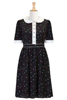 Black and white nautical dress at eshakti $72.95