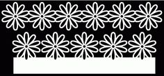 FREE SVG + cut files flower borders 1