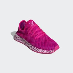 sale retailer a583b 55901 Deerupt Runner Shoes Shock Pink   Vivid Pink   Cloud White CG6090 Runners  Shoes, Pink. adidas United States