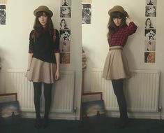 """Hat, Shirt, Skirt, Jumper //""""Why'd you want to live here if there's nothing but housing?"""" by Ashleigh F. // LOOKBOOK.nu"""