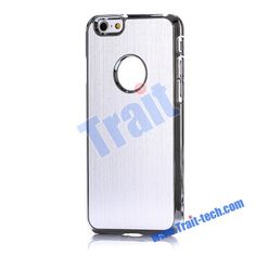 High Quality Brushed Electroplated Aluminium Coated Hard Cases for iPhone 6 4.7 inch (Silver)