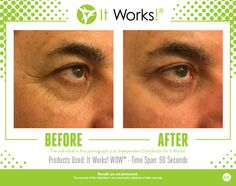 It Works! WOW wipes out your wrinkles! In 45 seconds you will start to feel it working, and in 45 more seconds all you will be able to say is WOW!  Instantly and temporarily reducing the appearance of fine lines and wrinkles, this functional formula doesn't stop there.