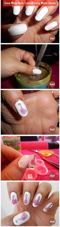 Snow White Nails Tutorial...