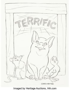 35 best charlotte s web images charlottes web blanco y negro Puppies On the Prairie animation art production drawing charlotte s web wilbur templeton and jeffrey publicitydrawing by
