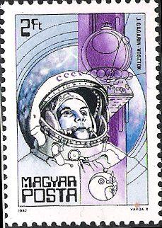 Yuri Gagarin stamp  Hungary