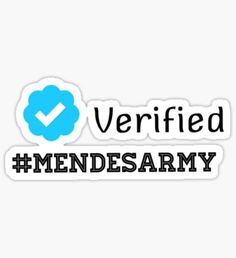 Pegatina Verified mendes army
