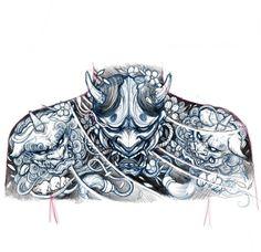 Upper back sketch chronicink asianink tattooirezumiasiantattoo sketch illustration drawing hannya foodog japanese tattoo tattoo japanese tattoo Oni Tattoo, Raijin Tattoo, Irezumi Tattoos, Geisha Tattoos, Japanese Mask Tattoo, Japanese Tattoo Designs, Japanese Sleeve Tattoos, Japan Tattoo Design, Neue Tattoos